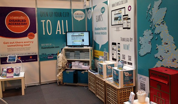 A photo of our stand at Naidex.