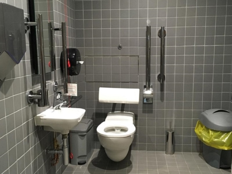 Photo of the toilet at Glasgow Film Theatre.
