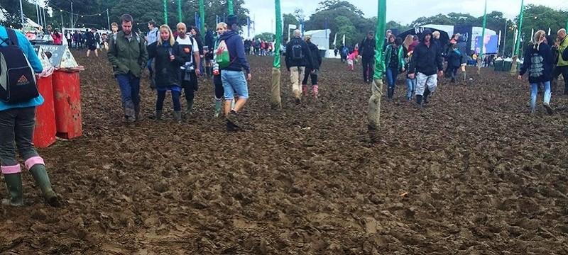 Photo of  mud at a festival.