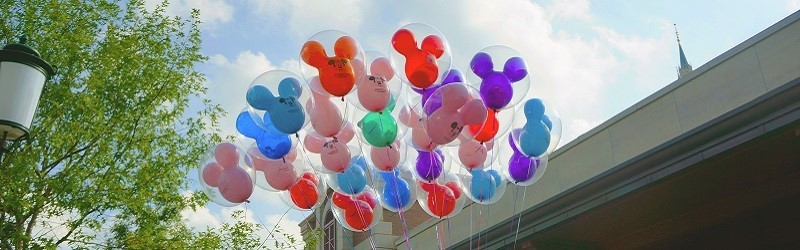 Photo of Disney balloons.