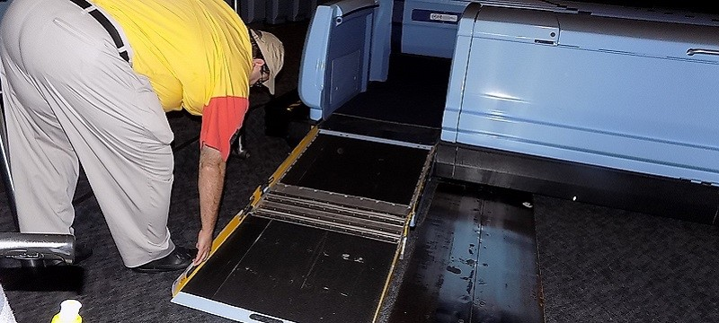 Photo of Ellen's Energy Adventure ramp.