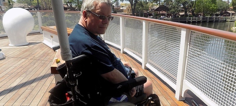Photo of Neil on the riverboat.