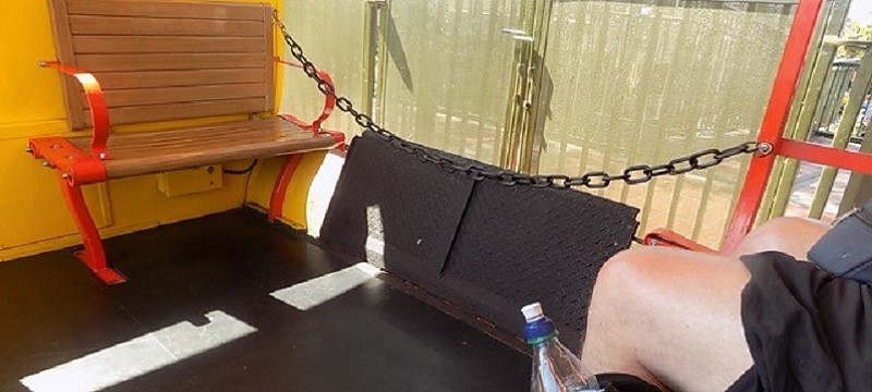 Photo from the train carriage.