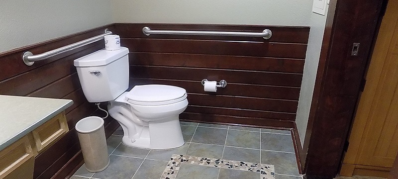 Photo of toilet in hotel room.