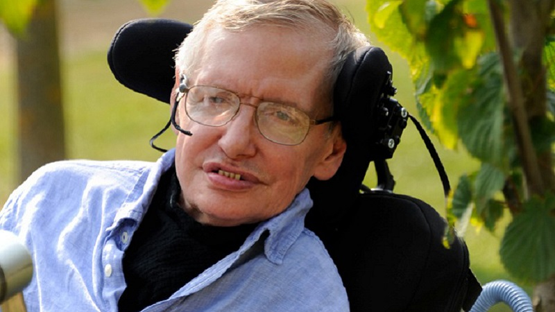 Photo of Stephen Hawking.