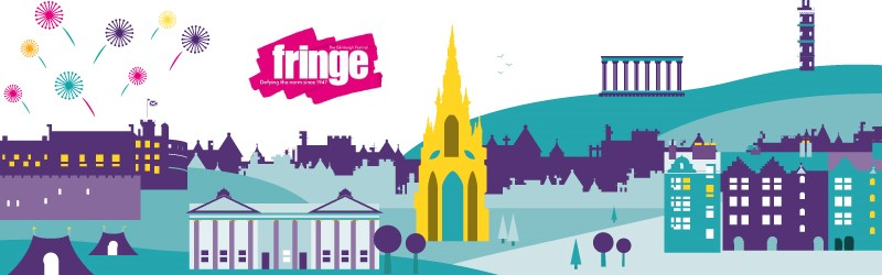 Euan's Guide Edinburgh illustration with Fringe logo.