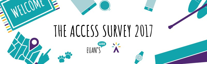 "Graphic with text ""The Access Survey 2017""."