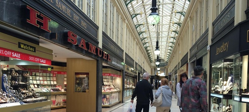 photo of the Argyll Arcade.