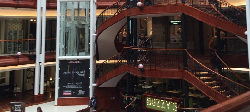Photo of the Princes Square Shopping Centre.