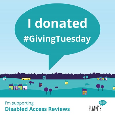 "Speech bubble saying ""I donated #GivingTuesday""."
