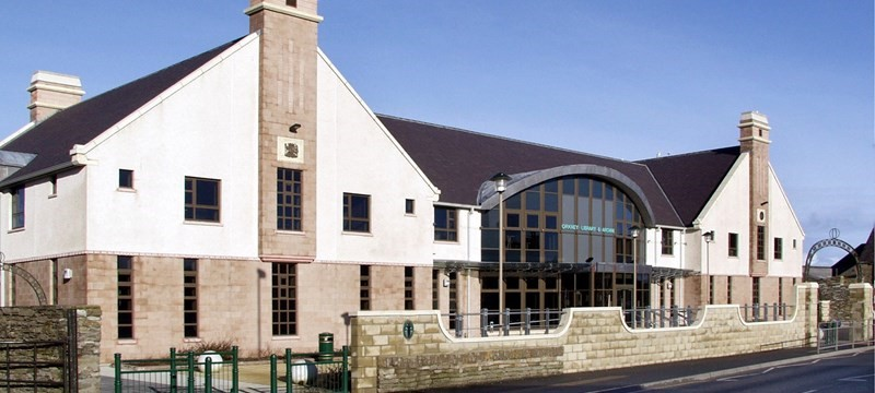 Photo of the Orkney Library.