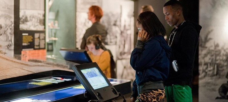 Photo of visitors to the International Slavery Museum.