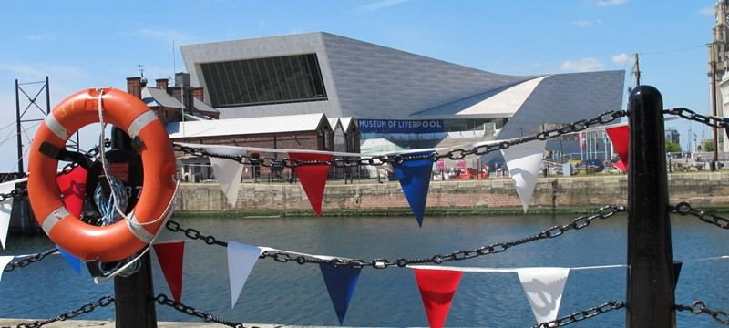 Photo of the exterior of the Museum of Liverpool.