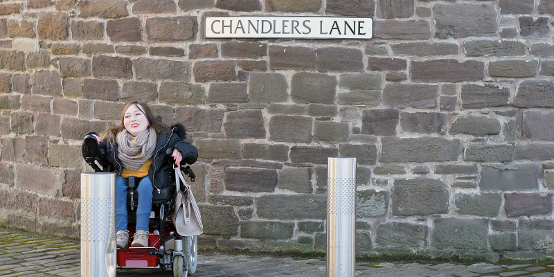 Photo of Claire on Chandlers Lane.