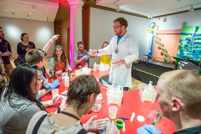 Photo of a Science Festival demo.