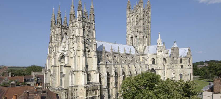 Photo of Canterbury Cathedral.
