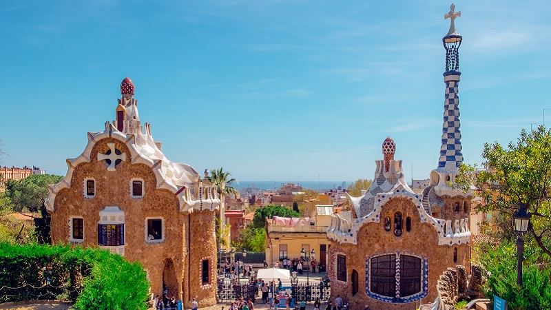 Photo of Parc Guell in Barcelona.