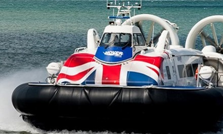 Take a hovercraft to the Isle of Wight