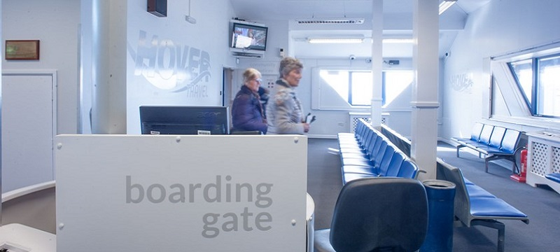 Photo of the boarding gate.