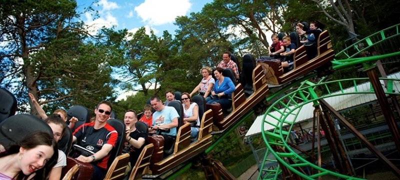 Photo of rollercoaster at Landmark Forest Adventure Park.