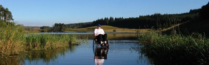 Photo of a person at Calvert Trust Kielder.