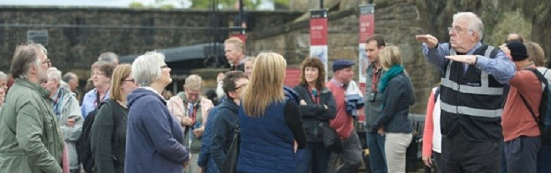 Photo of a signed tour happening at Edinburgh Castle.