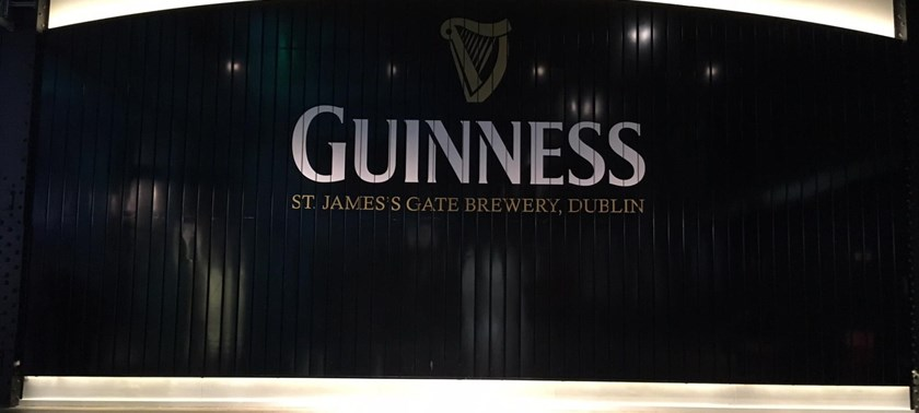 Photo of the Guinness Storehouse gate.