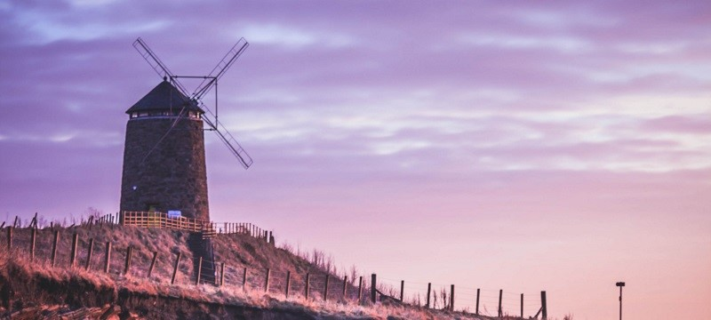 Photo of a windmill in Fife.