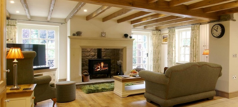 Photo of the fireplace and lounge in Cottage in the Dales.