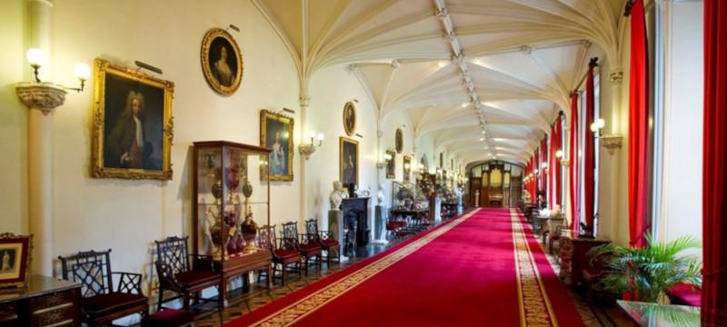 Photo of Scone Palace interior.