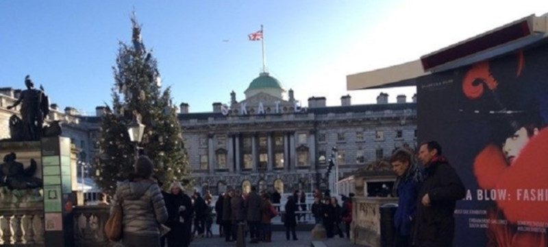 Photo of the ice rink at Somerset House.