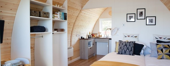 Win a two-night stay in an accessible luxury glamping pod