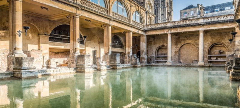 Photo of the Roman baths at Bath.