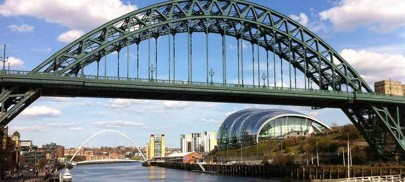 Photo of Newcastle showing bridges over the Tyne.