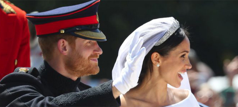 Photo of the Duke and Duchess of Sussex on their Wedding day.