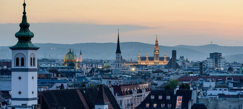 Photo of Vienna skyline.