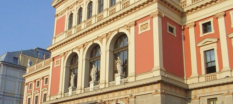 Photo of exterior of Musikverein.