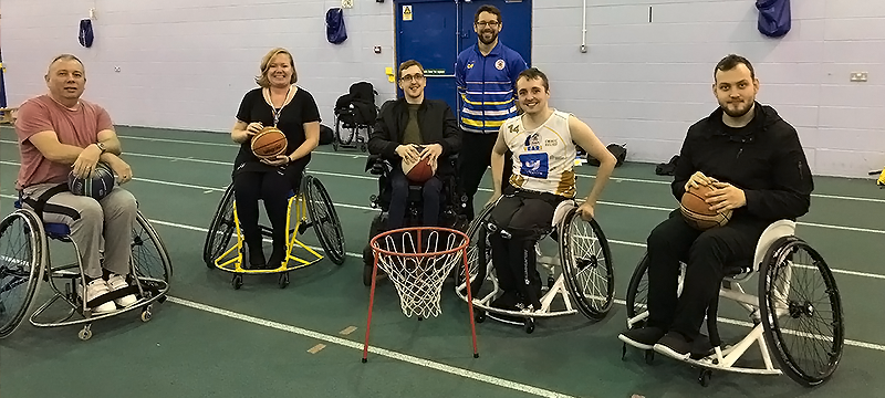 Wheelchair Basketball at John Charles Centre in Leeds