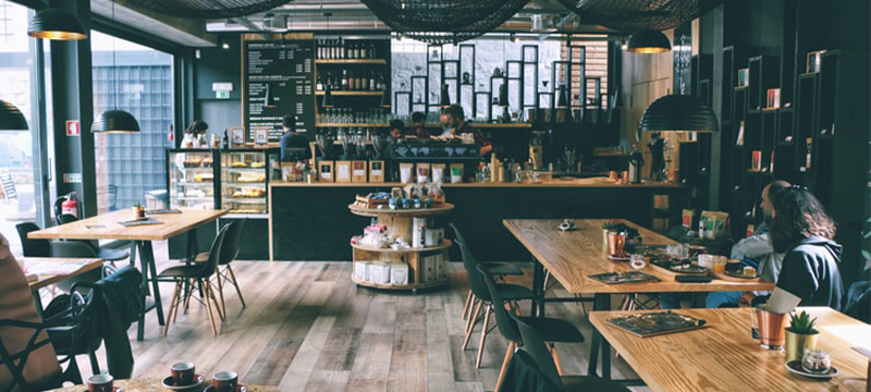 Photo of a coffee shop.