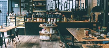 Photo of a cafe.