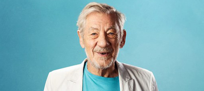 Photo of Ian McKellen.