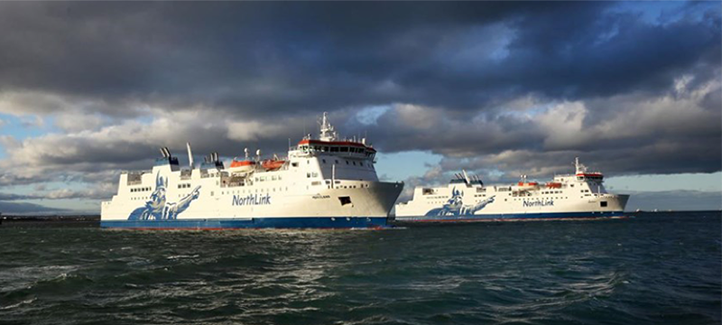 Image of NorthLink Ferries on the water © NorthLink Ferries