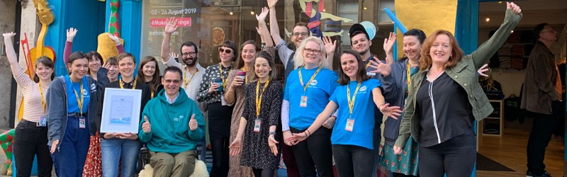Edinburgh Festival Fringe receive award for their great Hello!