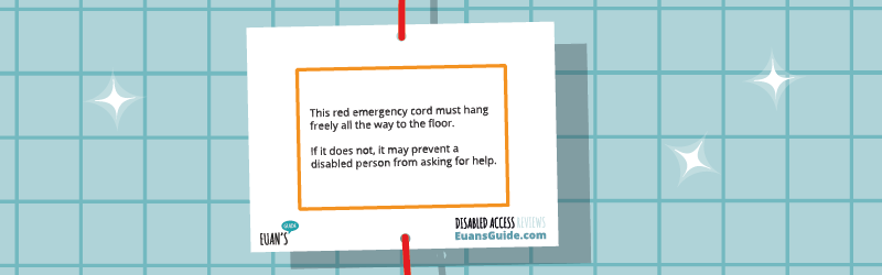 Graphic showing a Red Cord Card against a tiled background