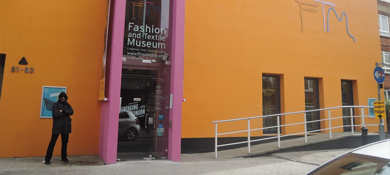 Entrance to the Fashion and Textile Museum