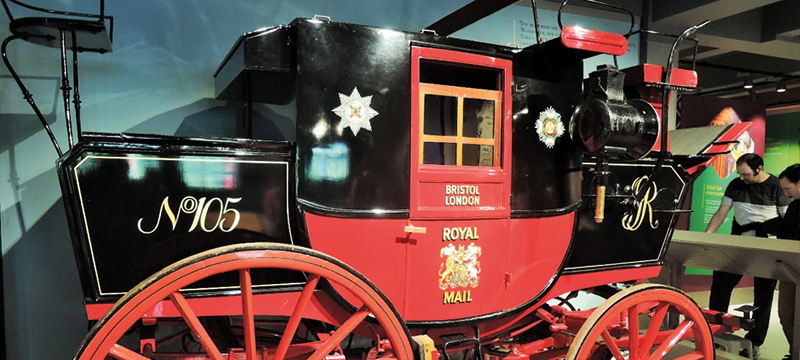 Horse drawn Royal Mail carriage
