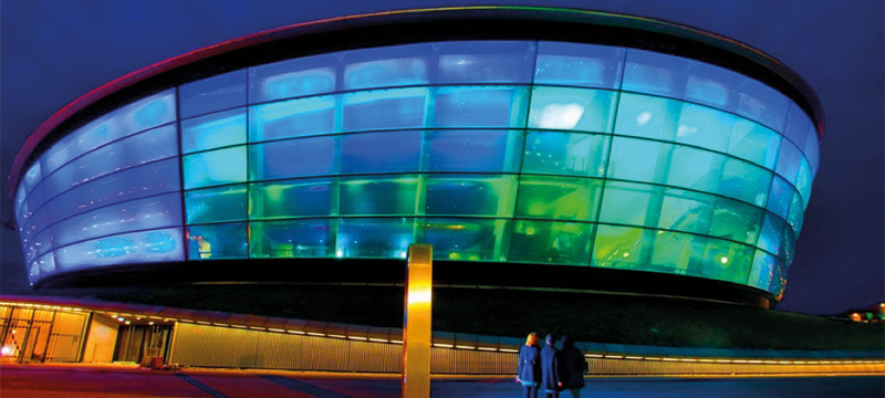 Exterior of the SSE Hydro in Glasgow