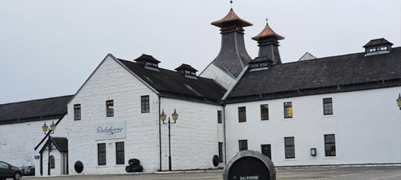 Exterior of Dalwhinnie Distillery