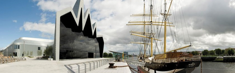 Exterior of Riverside Museum in Glasgow