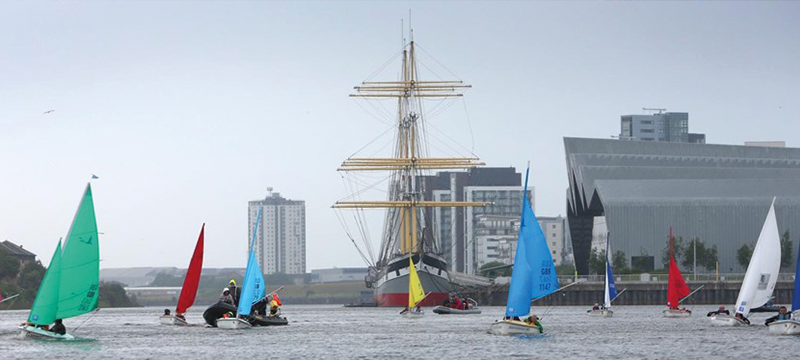 Image of Sailboats on the Clyde.